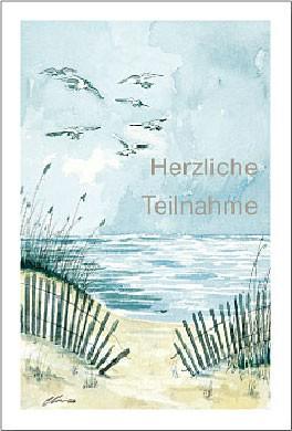 """Trauerkarte """"Herzliche Teilnahme"""""""