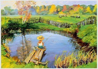"""Puzzle """"Der kleine Angler"""""""