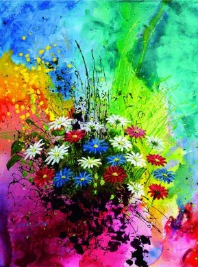 Puzzle «Bouquet multicolore»