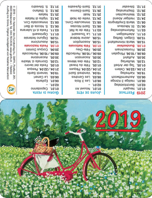 Calendario tascabile 2019