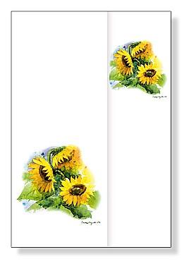 """Blumenbrief """"Sonnenblumen"""""""