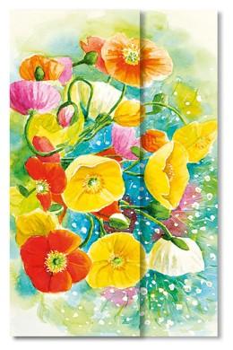Carte floreali «I papaveri»