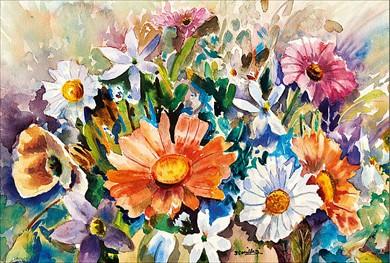 Fleurs multicolore