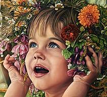 """Originalreproduktion """"Mädchen mit Blumen"""""""