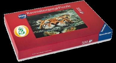 """Puzzle """"Schwimmender Tiger"""""""