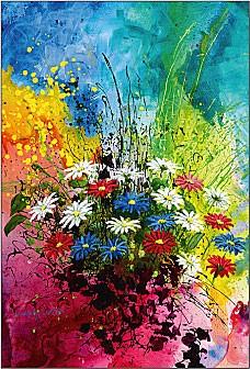 Mazzo di fiori variopinti